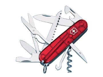 Huntsman Swiss Army Knife Translucent Red Blister Pack
